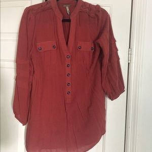 Matilda Jane burnt orange top large woman's